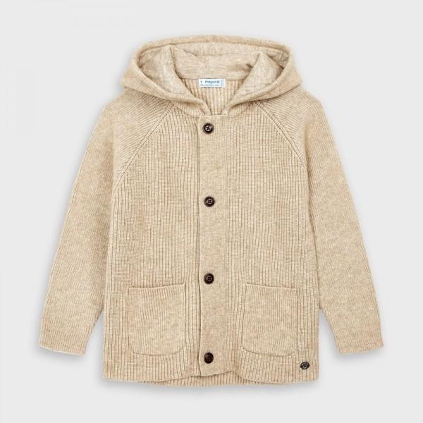 Jacheta tricot cu buzunare baiat 04340 MYBL152Y