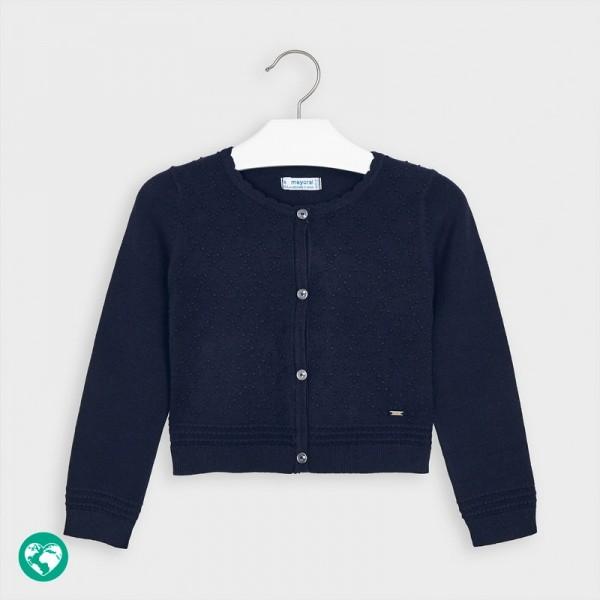 Cardigan bleumarin tricot structura fetita MAYORAL 4349 MYBL60V