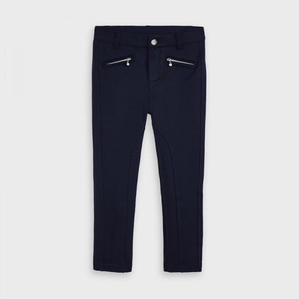 Pantaloni bleumarin lungi aspect satinat fetita MAYORAL 4554 MYPL16V