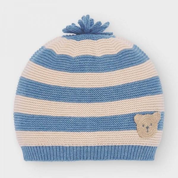 Caciula tricot albastru-crem baiat MAYORAL 9320 MYCACIULA02V