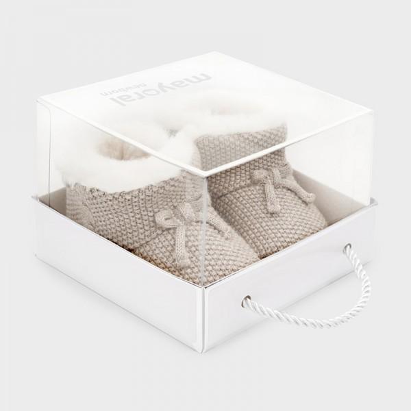 Pantofi tricot nou-nascut baiat 09329 MYGHE03V