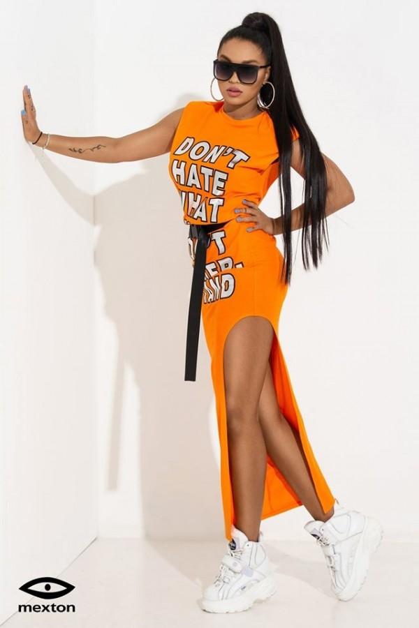 Rochie orange marca MEXTON MEXR8134Z