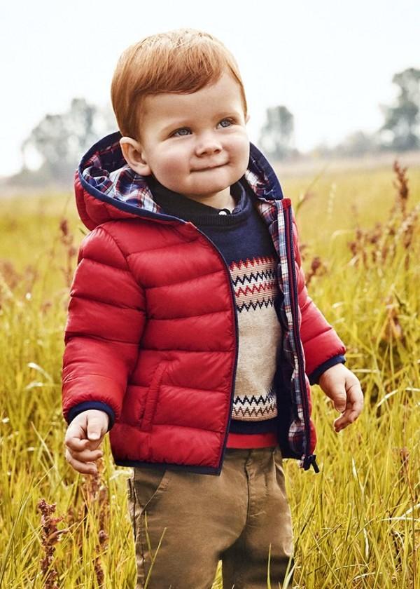 Geaca rosie matlasata cu geanta bebe baiat MAYORAL 2415 MYG33Y