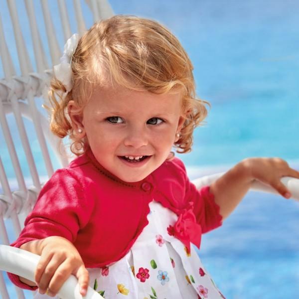 Bolero roz tricot Ecofriends fetita MAYORAL 306 MYBO29W