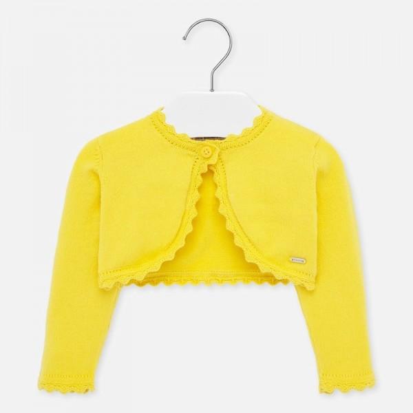 Bolero galben tricot Ecofriends fetita MAYORAL 306 MYBO29W