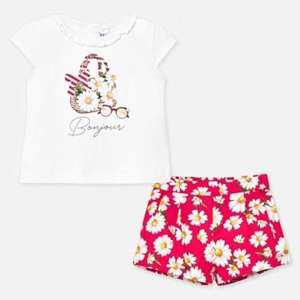 Set tricou flori bebe fetita MAYORAL 01212 MYSET65P
