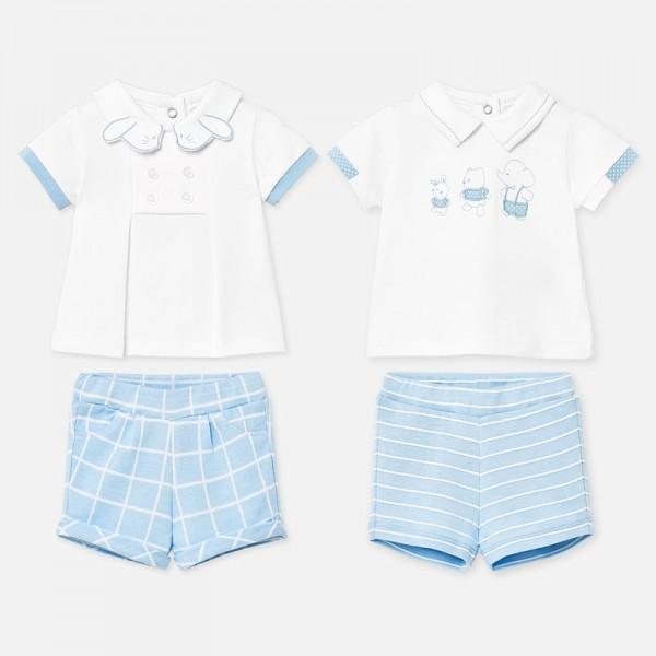 Set tricou si pantaloni scurti bleu baiat MAYORAL 1666 myset09p