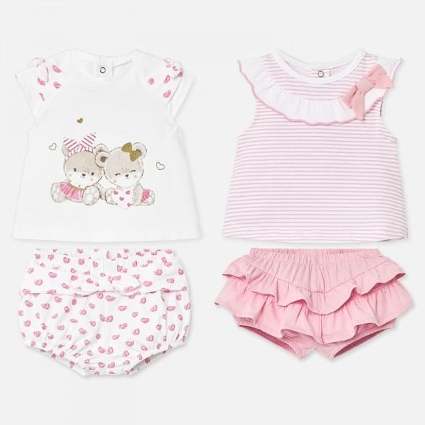 Set tricouri si pantaloni scurti bebe fetita MAYORAL 1672 myset12p
