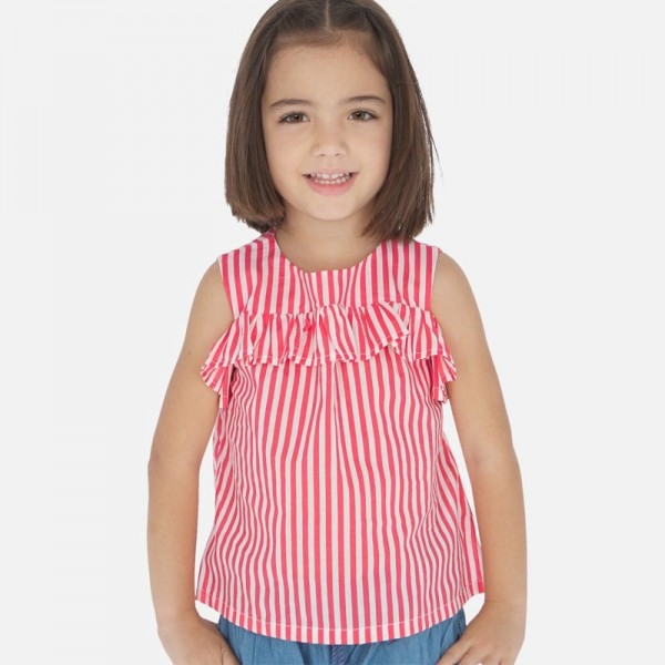 Bluza dungi rosii fata MAYORAL 3186 MYBL107W