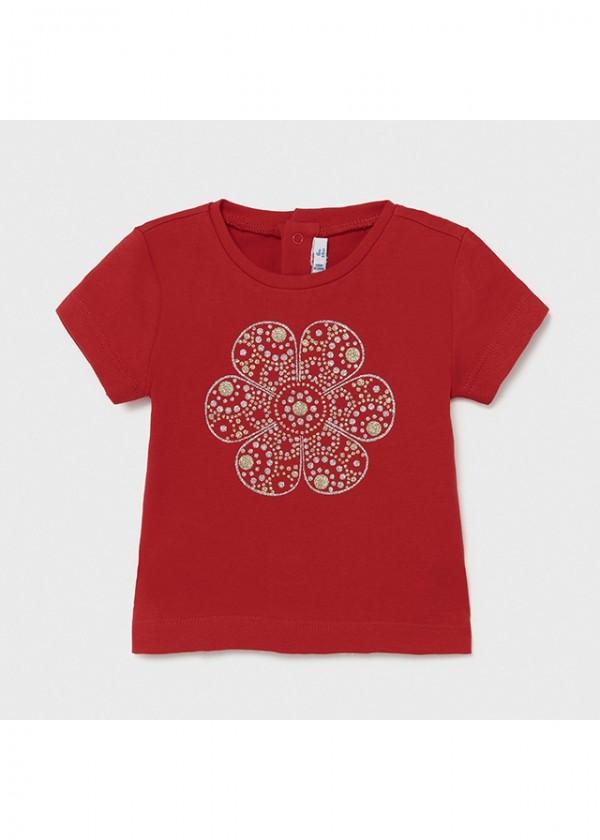 Tricou rosu Ecofriends basic bebe fetita 105 MYBL73X
