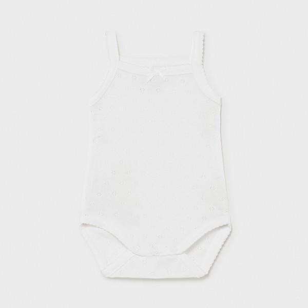 Body alb bretele basic new born fata 00168 MYBD02X