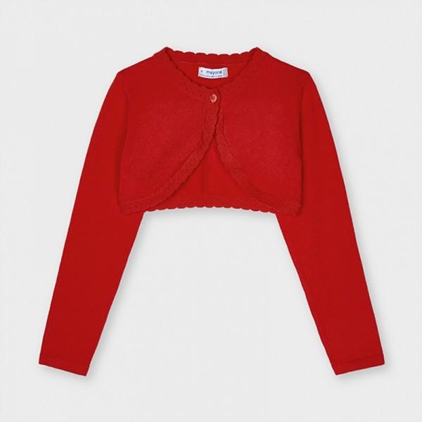 Cardigan rosu tricot Ecofriends basic fata 320 MYBO06X