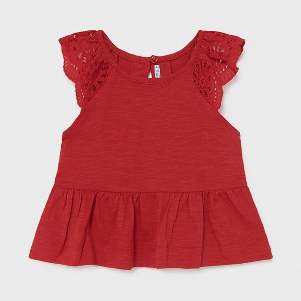 Tricou rosu maneca scurta flame fetita MAYORAL 1085 MYBL84X