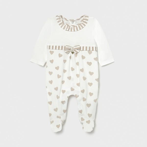 Pijama inimioare new born fata 01604 MYPIJA02X