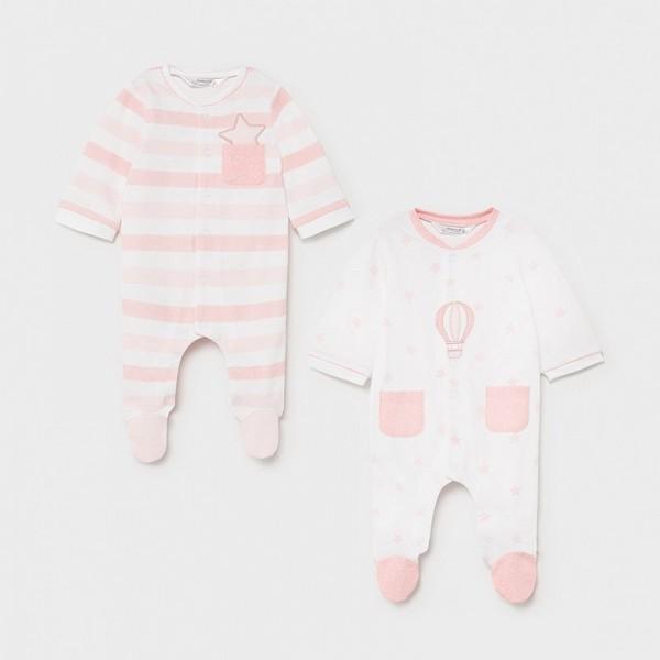 Set 2 pijamale roz nou-nascut 01625 MYSET15X
