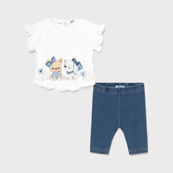 Set leggings denim bebe fetita Mayoral 1709 - MYCS02X