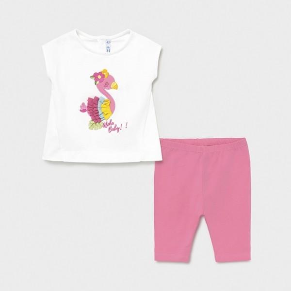 Set roz leggings bebe fetita MAYORAL 1798 MYSET33X