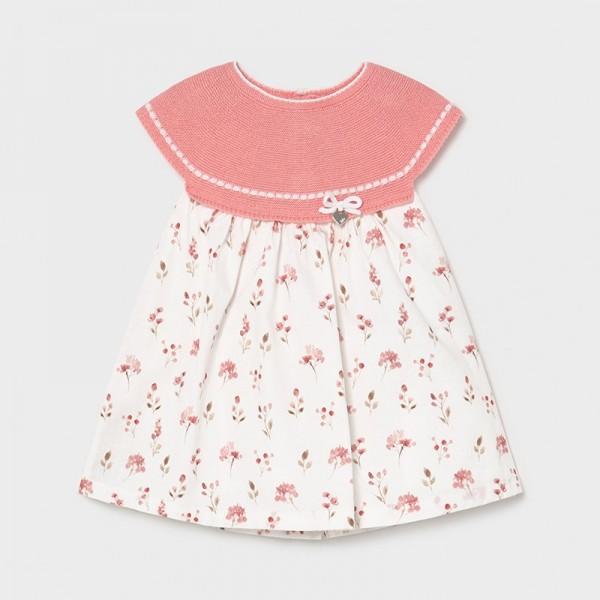 Rochie combinata tricot new born fata 1805 MYR14X