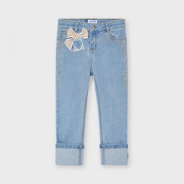 Pantaloni albastru deschis funda fetita Mayoral 3554 - MYBG03X