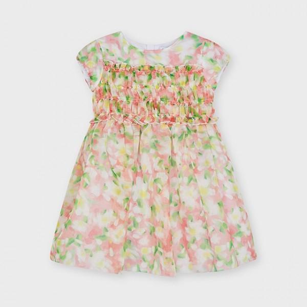 Rochie imprimeu flori roz fetita 03914 MYR103X