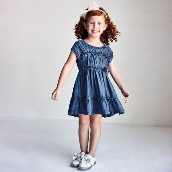 Rochie denim inchis Ecofriends tencel fetita MAYORAL 3936 MYR114X
