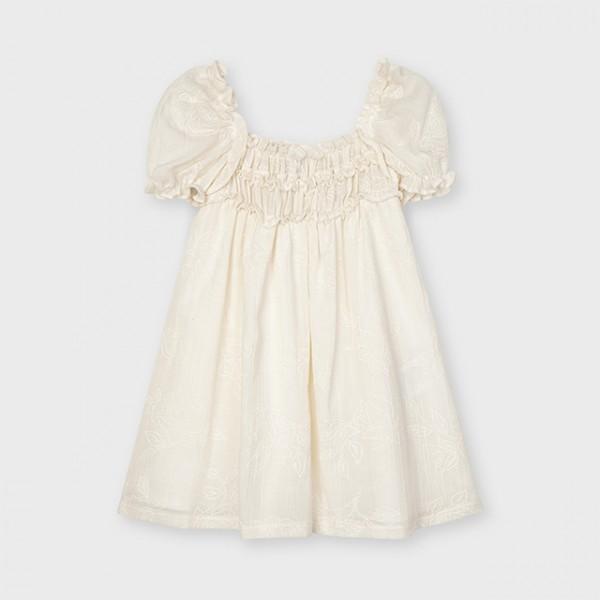 Rochie ivory floare plusata fetita MAYORAL 3946 MYR119X