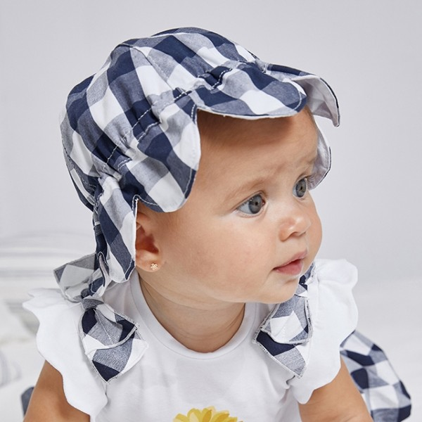 Palarie albastra vichy new born fata MAYORAL 9375 MYPAL07X