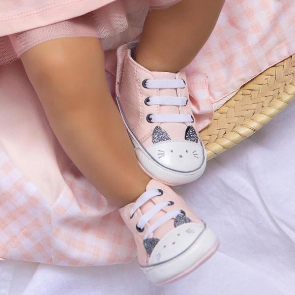 Pantofi roz pal sport pisicuta new born fata Mayoral 9410 - MYTEN03X