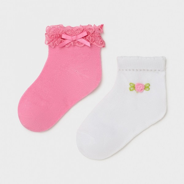Set 2 sosete roz inchis bebe fetita MAYORAL 10011 MYSOS09X