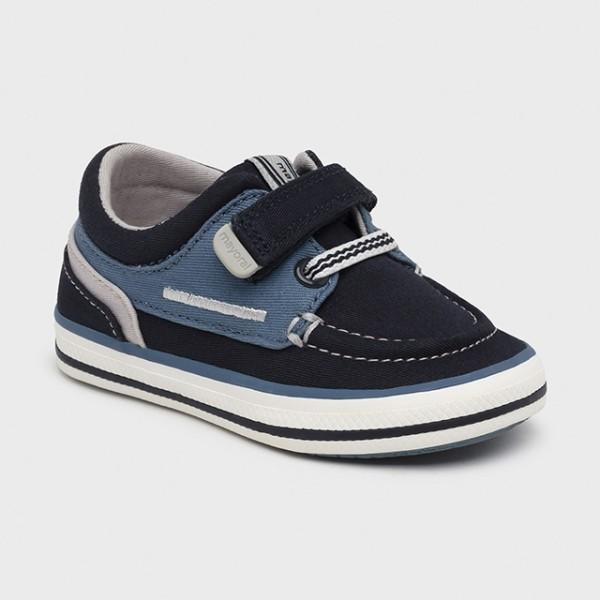 Pantofi nautic bumbac ECOFRIENDS bebe baiat 41286 MYTEN13X