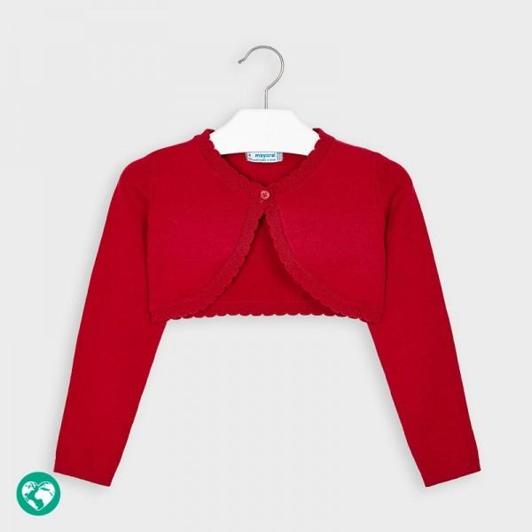 Cardigan rosu tricot basic fetita 00314 MYBO02P