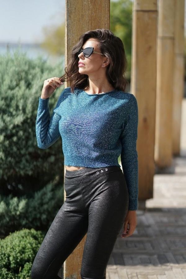Bluza albastra cu sclipici it-bl14s