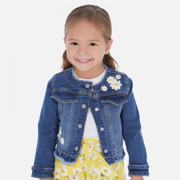 Jacheta din denim fete Mayoral MYG09P