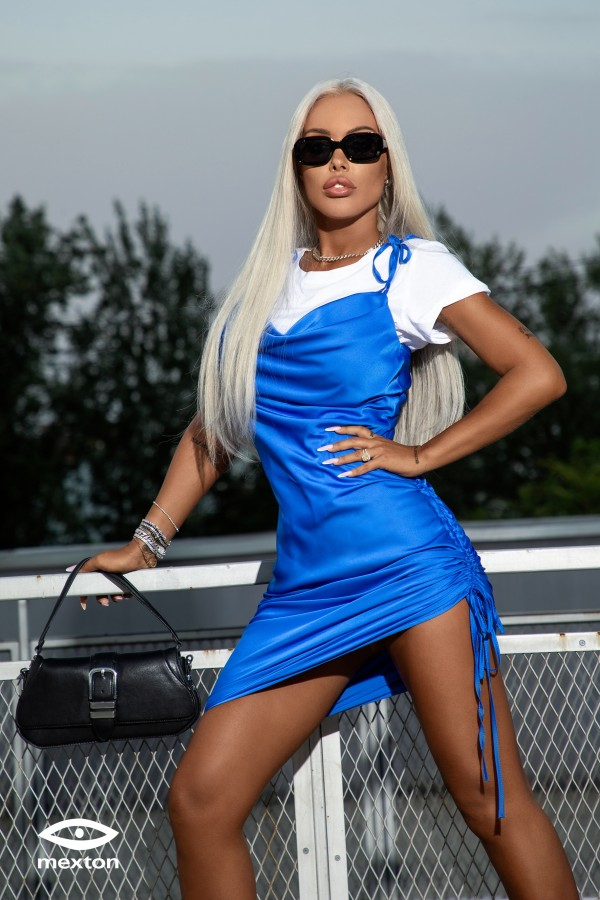 Rochie albastra Mexton MEXR8786Y