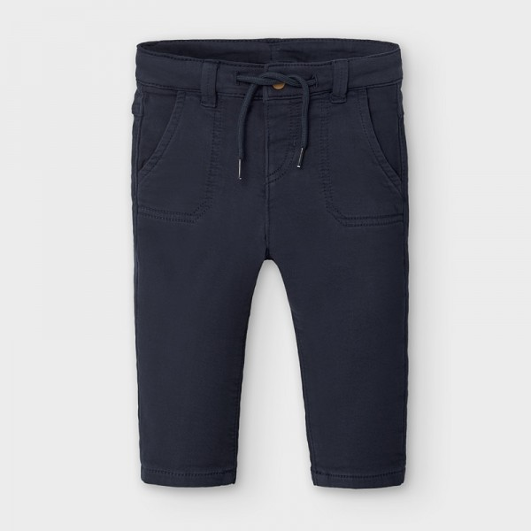 Pantaloni bleumarin cu siret baiat MAYORAL 2581 MYPL119Y