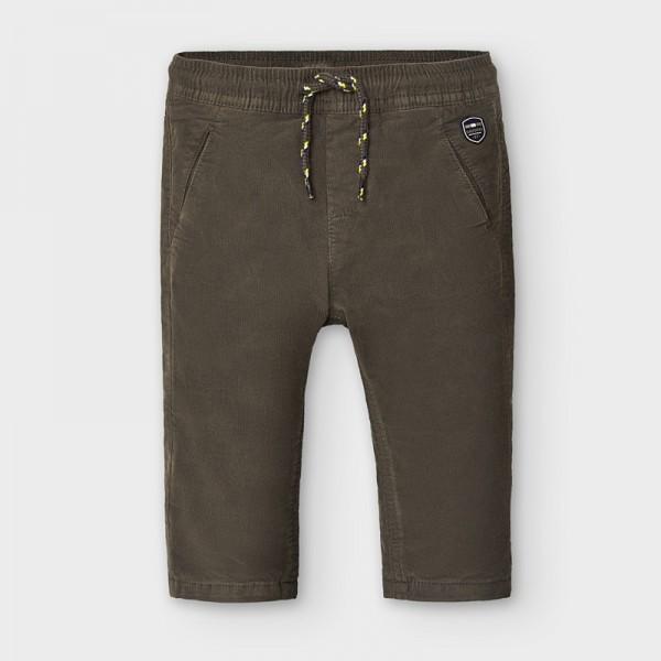 Pantaloni maro microraiat baiat MAYORAL 2576 MYPL121Y