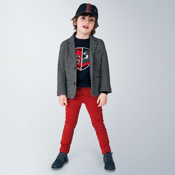 Pantaloni rosii slim fit baiat MAYORAL 517 MYPL101Y