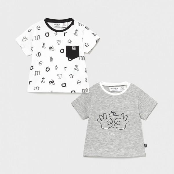 Set gri 2 tricouri baiat MAYORAL 1075 MYBL35X