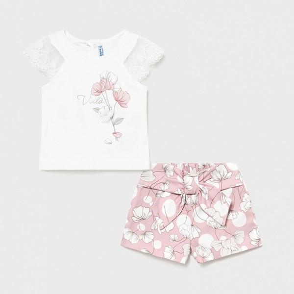 Set roz bermude imprimeu fetita MAYORAL 1233 MYCS18X