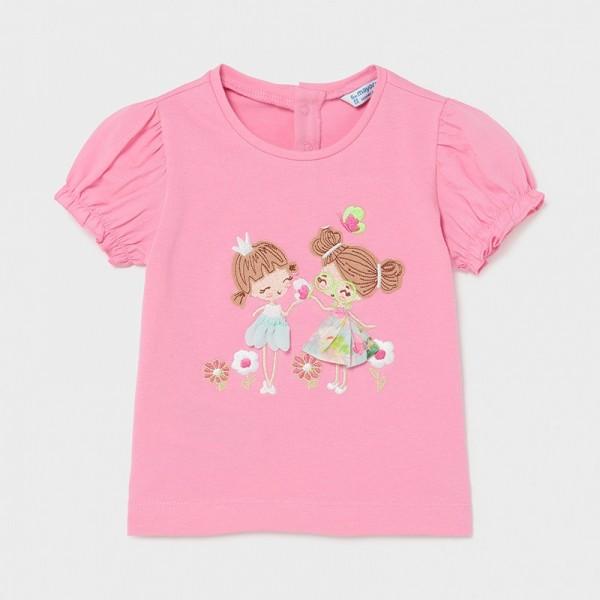 Tricou roz imprimeu aplicatii fetita MAYORAL 1078 MYBL36X